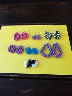 rainbow loom earrings on pinterest rainbow loom rainbow