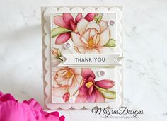 Mayras Designs:  Altenew Magnolias For Her; Zig Clean Color Real Brushes