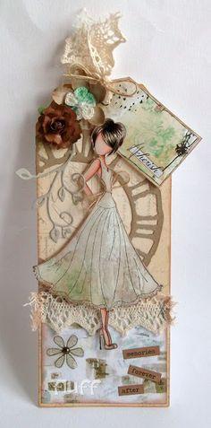 2/22/2013; Faye at 'My Mum's Craft Shop' blog; Prima Dolls stamp