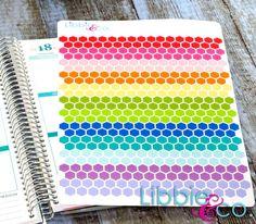 Honeycomb Pattern Life Planner Die-Cut Stickers Set by Libbieandco