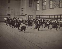 Girls' Gym Class, Dorchester High School in Boston, ca. 1901