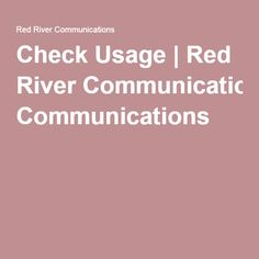 Check Cellular Data Usage | Red River Communications