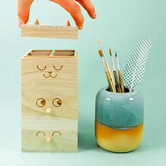 the cutest way to keep your desk organized.