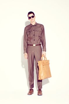 Marc Jacobs Spring 2013 Menswear... loose the purse guy!