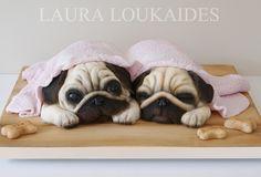 """""""Agnes & Ethel - The Sleepy Pugs"""" by Laura Loukaides"""