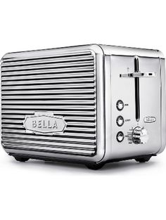 BELLA LINEA 2 Slice Toaster with Extra Wide Slot, Color Polished Stainless Steel ❤ BELLA