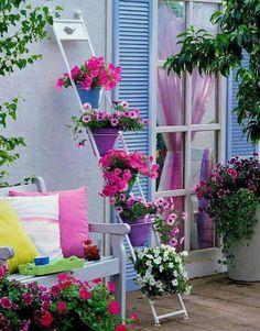 decorar terrazas con flores