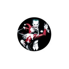 The Joker And Harley Quinn Button