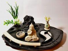 imagenes con ideas para un jardin zen en miniatura