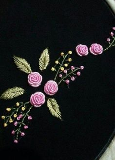 Embroidery On Kurtis Hand Embroidery Stitches Hand Embroidery Designs Embroidery Dress Embroidery Patterns Brazilian Embroidery Meraki Jelsa Blouse Designs Bullion Embroidery, Hand Embroidery Videos, Hand Embroidery Stitches, Silk Ribbon Embroidery, Embroidery Techniques, Machine Embroidery, Embroidery Neck Designs, Floral Embroidery Patterns, Embroidery Flowers Pattern