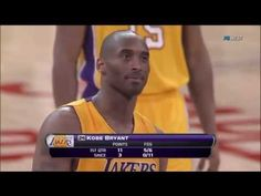 Kobe Bryant Dances to MVP Chant And Banks Free Throw - YouTube