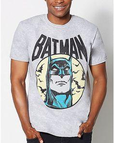 Bats Face Batman DC Comics T Shirt - Spencer's