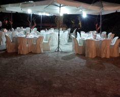 Evening set up