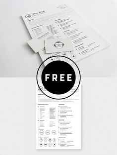 98 Awesome Free Resume Templates in this post are made by creative designers for designers and these resume templates are fully editable, so you can replace the text, change the name, add your phone number and address of your own. Best Resume Template, Resume Design Template, Menu Design, Free Resume, Design Design, Infographic Resume, Cover Letter Template, Business Design, Creative Business