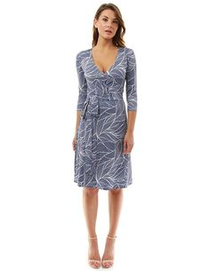 3a7a9d36d2598 PattyBoutik Women s Faux Wrap A Line Dress at Amazon Women s Clothing store
