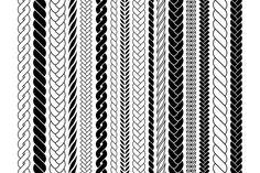 Pattern Drawing, Pattern Art, Pattern Design, Plait Braid, Plaits, Braid Patterns, Textile Patterns, Motifs Blackwork, Rope Drawing