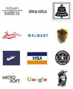 GIF mostra a evolução de logotipos das marcas mais famosas do mundo