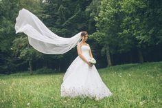 wedding dress white veil