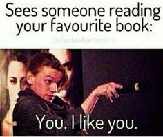Home Hooked to Books Mortal instruments funny, The mortal instruments, Book memes, Percy jackson, Book. 9gag Funny, Funny Relatable Memes, Funny Jokes, Meme Comics, I Love Books, Good Books, Mortal Instruments Funny, Best Book Reviews, Humor Mexicano