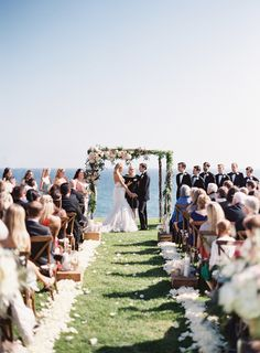 Overlooking the ocean at Dos Pueblos Ranch. These Buds A Blooming, Ambient Event Design. Photography: Patrick Moyer Photography - patmoyerweddings.com