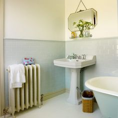 Period fittings Bathroom makeover bath shower Makeover Ideal Home Housetohome Upstairs Bathrooms, Small Bathroom, Bathroom Ideas, 1930s Bathroom, Bathroom Hacks, Downstairs Bathroom, Bathroom Layout, Bathroom Remodeling, Bad Inspiration