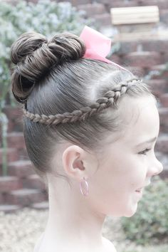 This hair is a great option for dance recitals. #dancehair #littlegirls #hairstyles  It's nice and tight so your hair won't be in your face and it's very pretty!!!!