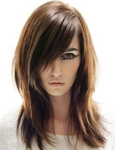 medium length hairstyles with bangs for oval faces - Medium Length ...