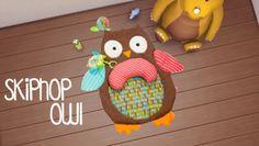 Skiphop owl rug at Akai Sims via Sims 4 Updates