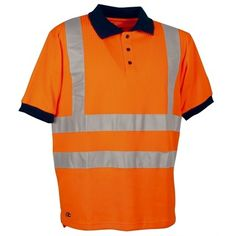 Ideal for both workmen/women & cyclists alike, this Cofra Spotlight Hi Vis Polo Shirt with its reflex stripes across the waist and chest, is designed to increase the wearers presence in low visibility. Workwear Brands, Polo Shirt Design, Female Cyclist, Orange, Work Wear, Shirt Designs, Casual, Cyclists, Sleeves