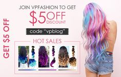 Gorgeous dark hair to pastel color in one set of hair extensions is an attractive look for more and more young girls. Vpfashion does the customization job and all you need to do is to send us your desired styles.READ MORE