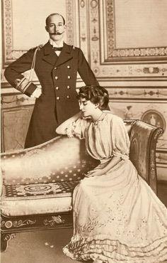 Princess Marie Bonaparte -- engagement photograge in 1906is.