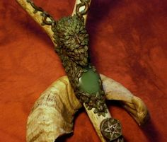 King of the Wild Forest - Green Man staff. £500.00, via Etsy.