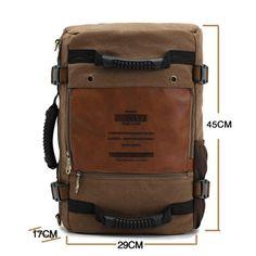 RU-BING Hombre de gran capacidad Viajar Ocio impermeable de lona del hombro del bolso del bolso del morral ( Caqui ): Amazon.es: Ropa y accesorios