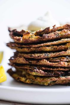 Paleo Baked Zucchini Fritters | Food Faith Fitness