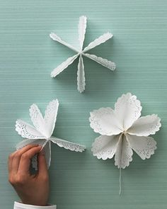 Doiley stars! Would be cute in the window as snowflakes