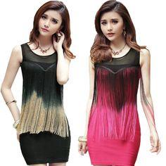 2013 Slim package hip nightclub tassel dress -  http://zzkko.com/book/shopping?note=23362 $9.67