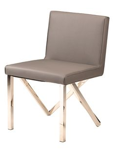 Nuevo Talbot Naugahyde Dining Chair in Grey Modern Dining Chairs, Dining Bench, Dining Room, Modern Contemporary, Modern Design, Upholstered Arm Chair, Cool Lighting, Side Chairs, Home Furnishings