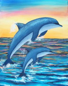 Easy-Acrylic-Painting-Ideas-on-Canvas 10 DIY Dorm Decor Simple and Easy Landscape Painting IdeasAbstract Art, Cloud Painting Print , Cloud Print ,…Original Oil Painting Modern Large Wall Art Decor… Dolphin Painting, Dolphin Art, Heart Painting, One Stroke Painting, Painting & Drawing, Watercolor Paintings, Easy Landscape Paintings, Simple Acrylic Paintings, Easy Paintings