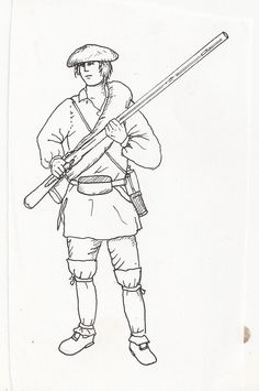 Ranger summer kit Coloring Book Pages, Coloring Sheets, Seven Years' War, 18th Century, School Ideas, Ranger, Canada, Illustrations, Indian