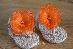 Crochet baby sandalsgladiator booties shoes por editaedituke