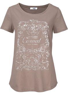 Shirt taupe met print - bpc bonprix collection nu in de onlineshop van bonprix.nl vanaf ? 8.99 bestellen. Zacht shirt met korte mouwen. Onderaan licht ...