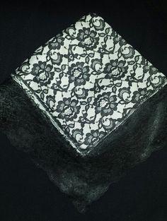 Wholesale Church Lap Scarves | Elegant Black and White Church Lap Scarf