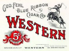 Western cigar box label