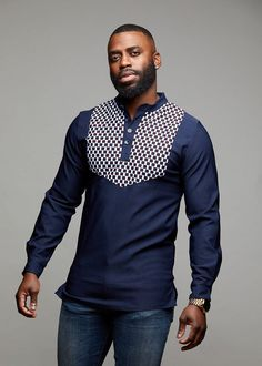 African Shirts For Men, African Attire For Men, African Wear, African Outfits, Modern African Clothing, African Clothing For Men, Mode Wax, Man Dressing Style, J Crew Men