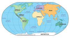 Kontinenty sú najjednoduchšími prvkami na svete. Kontinent je obrovská rozloha krajiny, ktorá sa vynára.  Z geografického hľadiska je obvyklé rozdeliť svet na časti, ktoré pokrývajú nielen kontinentálne masy, ale aj ostrovy, ktoré k nim susedia. Tieto veľké súbory sa tiež nazývajú kontinenty. World Map Continents, Continents And Oceans, Equator Map, Oceans Song, Kids World Map, North America Map, South America, Map Pictures, Photos