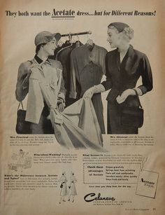 Vintage Fashion Ad Collection   1950s Acetate by DustyDiggerLise