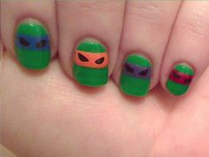 Happiness is a Dry Nail: TMNT - Day 21 - Inspired by a Color