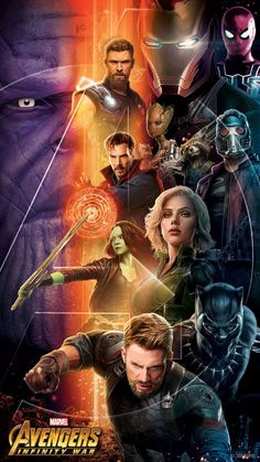 Really cool Marvel Avengers Infinity War movie poster representing the Avengers battle against Thanos! Marvel Comics, Films Marvel, Heros Comics, Hq Marvel, Marvel Heroes, Poster Marvel, Avengers Poster, Disney Marvel, The Avengers