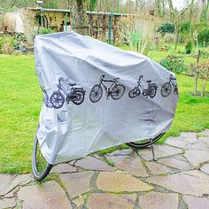 Schmuddelwetter? – Kein Problem für die wasserdichte Abdeckplane – damit ist nicht nur Euer Fahrrad vor Regen geschützt. https://relaxdays.de/fahrradgarage-185x110cm-wasserdicht-silber-10010037.html
