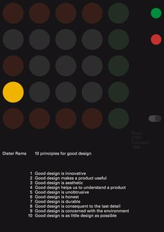This is about™ Dieter Rams 10 principles for good design. _ #Design #Form & #Function #Braun